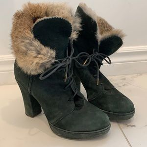 Fiorentini + Baker Suede & Fur Boots Size 38